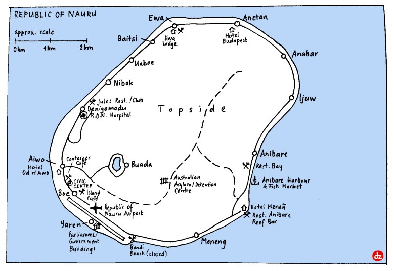 Nauru map