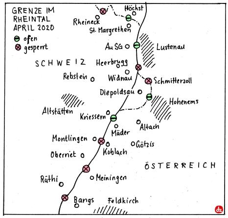 Rheintal-Grenzen
